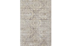 "9'1""x12'1"" Rug-Grey And Buttercream Faded Medallions"