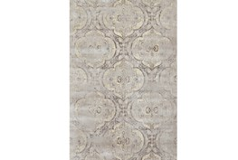110X146 Rug-Grey And Buttercream Faded Medallions