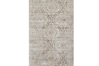 """9'1""""x12'1"""" Rug-Grey And Buttercream Faded Medallions"""