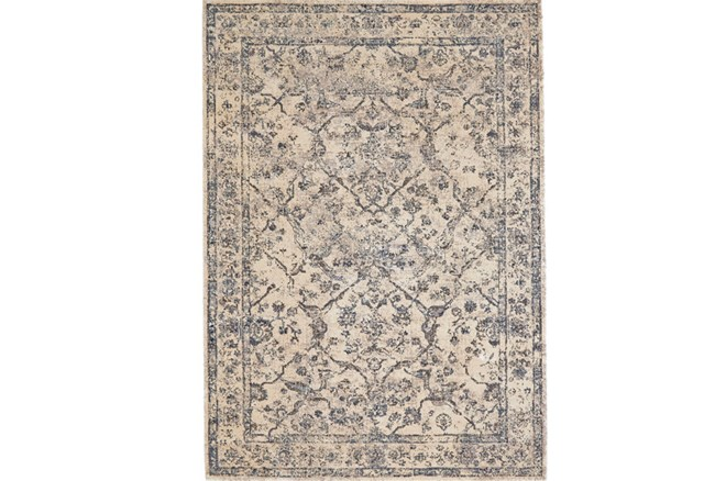60X90 Rug-Grey And Buttercream Distressed Tapestry - 360