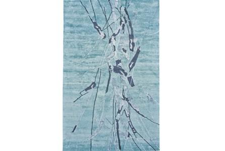 114X162 Rug-Reversible Aqua Splatter