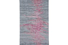 "3'5""x5'5"" Rug-Reversible Red Static"