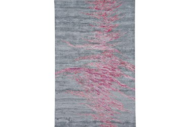 """3'5""""x5'5"""" Rug-Reversible Red Static"""