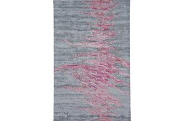"7'2""x8'3"" Rug-Reversible Red Static"
