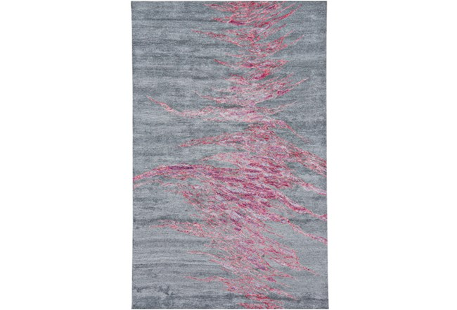 87X111 Rug-Reversible Red Static - 360