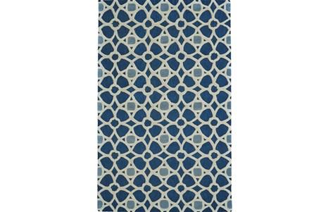 42X66 Rug-Indigo Moroccan Tile