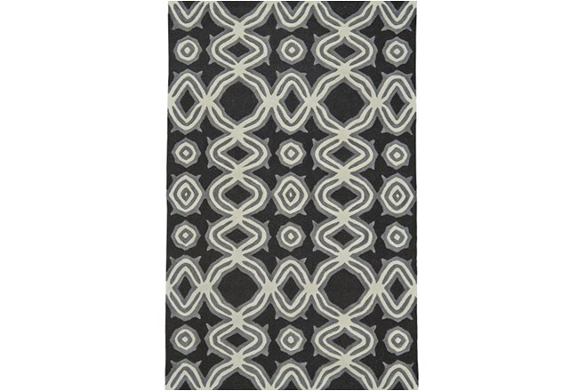 42X66 Rug-Black Tribal Print - 360
