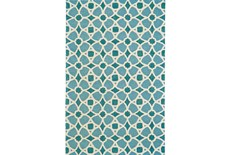 8'x11' Rug-Aqua And Blue Moroccan Tile