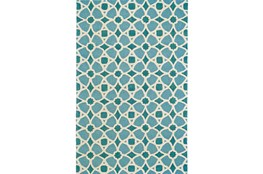 96X132 Rug-Aqua And Blue Moroccan Tile