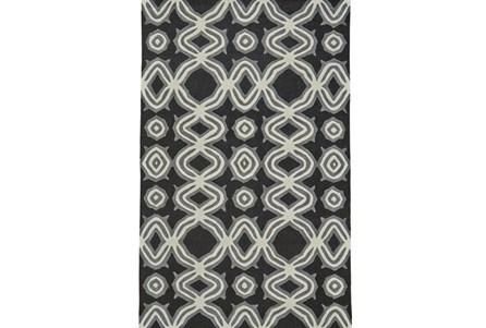 96X132 Rug-Black Tribal Print