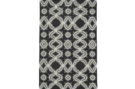 96X132 Rug-Black Tribal Print