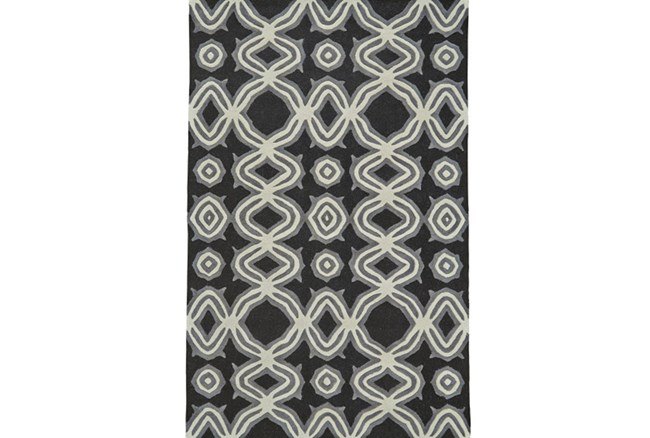 96X132 Rug-Black Tribal Print - 360