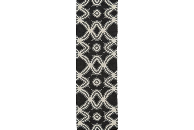 30X96 Rug-Black Tribal Print - 360