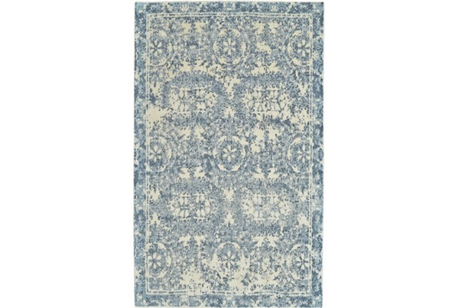 24X36 Rug-River Blue Distressed Tapestry - 360
