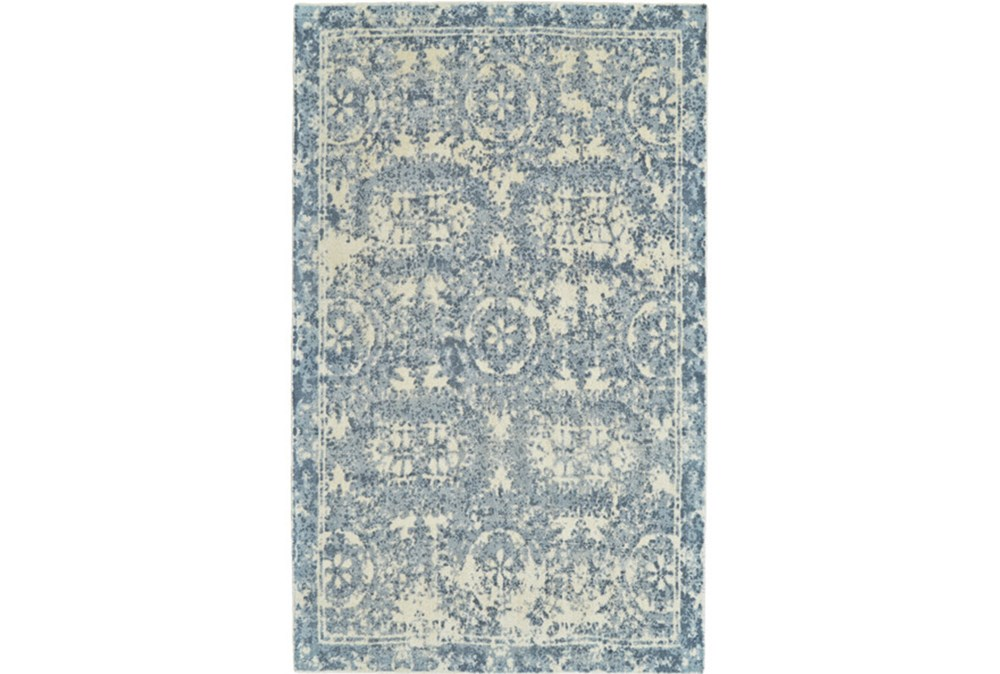 5'x8' Rug-River Blue Distressed Tapestry
