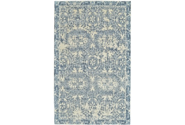 5'x8' Rug-River Blue Distressed Tapestry - 360