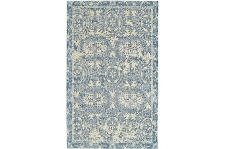 96X132 Rug-River Blue Distressed Tapestry - Main