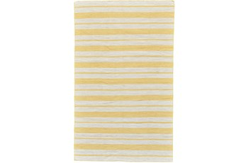 24X36 Rug-Recycled Pet Gold Pin Stripes