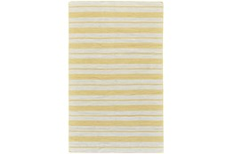 2'x3' Rug-Recycled Pet Gold Pin Stripes