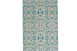48X72 Rug-Recycled Pet Green Pin Stripes