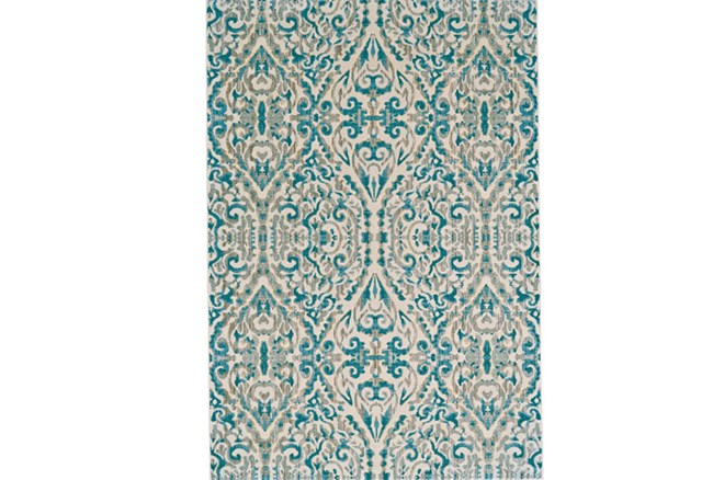 48X72 Rug-Recycled Pet Green Pin Stripes - 360