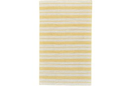 60X96 Rug-Recycled Pet Gold Pin Stripes