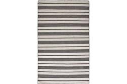 8'x11' Rug-Recycled Pet Black Pin Stripes