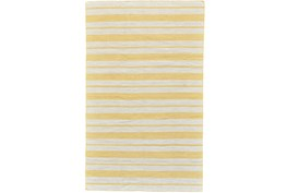 96X132 Rug-Recycled Pet Gold Pin Stripes