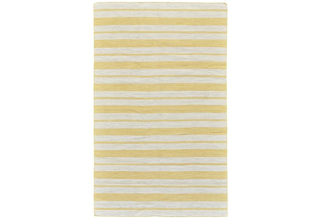 8'x11' Rug-Recycled Pet Gold Pin Stripes - 360