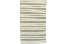 96X132 Rug-Recycled Pet Green Pin Stripes