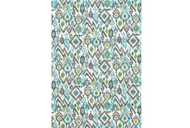 96X132 Rug-Aqua And Kiwikat - 360