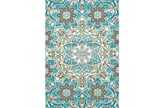 96X132 Rug-Aqua And Kiwi Large Medallion - Signature