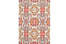 26X48 Rug-Coral And Orange Kaleidoscope