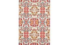60X96 Rug-Coral And Orange Kaleidoscope