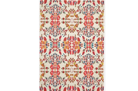 96X132 Rug-Coral And Orange Kaleidoscope