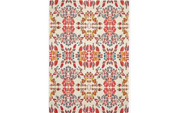 120X158 Rug-Coral And Orange Kaleidoscope