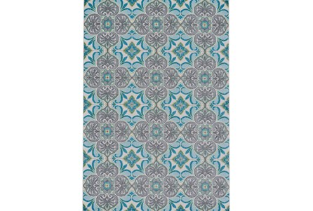 96X132 Rug-Sea Glass And Grey Kaleidoscope