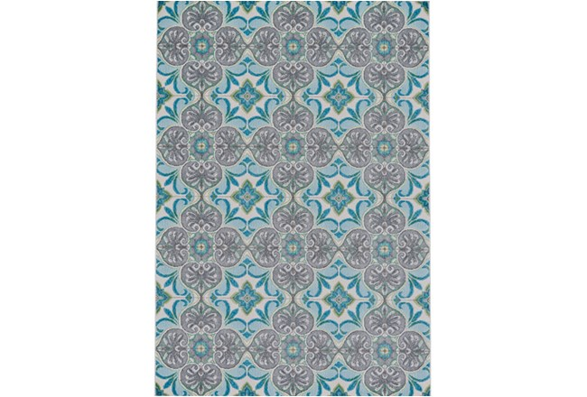 96X132 Rug-Sea Glass And Grey Kaleidoscope - 360