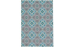 120X158 Rug-Sea Glass And Grey Kaleidoscope