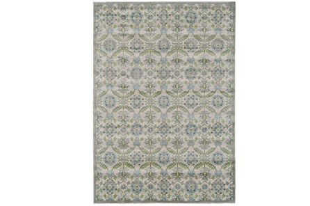 26X48 Rug-Spa And Green Small Floral Medallions - Main