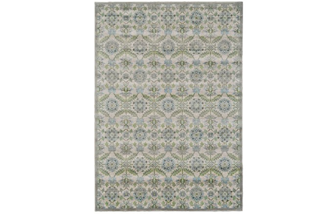 26X48 Rug-Spa And Green Small Floral Medallions - 360