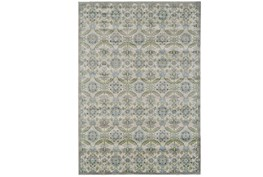 60X96 Rug-Spa And Green Small Floral Medallions