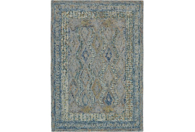 24X36 Rug-Cornflower Acanth Diamonds - 360