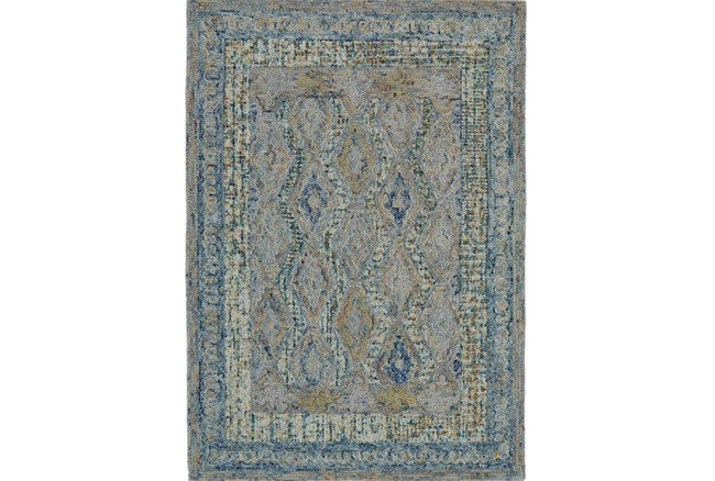 42X66 Rug-Cornflower Acanth Diamonds - 360