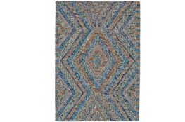 42X66 Rug-Cornflower And Orange Acantha