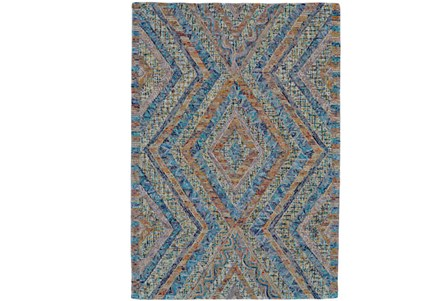 60X96 Rug-Cornflower And Orange Acantha
