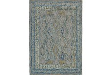 60X96 Rug-Cornflower Acanth Diamonds