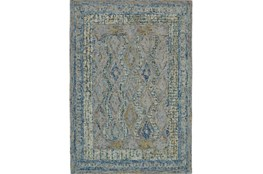 96X132 Rug-Cornflower Acanth Diamonds