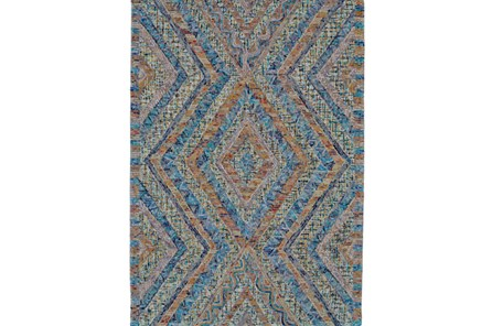 114X162 Rug-Cornflower And Orange Acantha