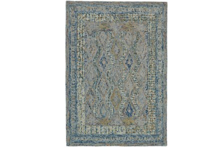 114X162 Rug-Cornflower Acanth Diamonds